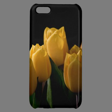 Elegant yellow tulips iPhone 5C cases