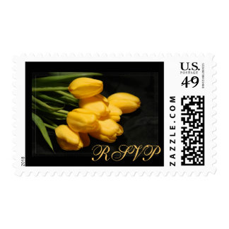 Elegant Yellow Tulips RSVP Postage Stamp