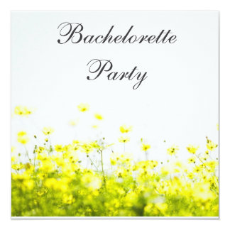 Elegant Yellow Wildflowers Bachelorette Party Card