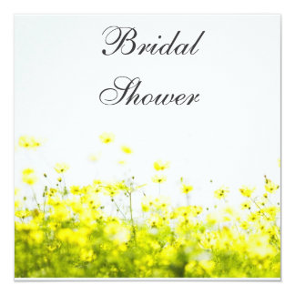 Elegant Yellow Wildflowers Bridal Shower Party Card