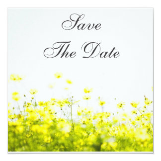 Elegant Yellow Wildflowers Save The Date Card