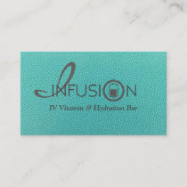 Elegant, yet trendy, beautiful teal and white card