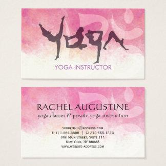 Elegant YOGA Human Alphabet Letters Om Symbol Business Card