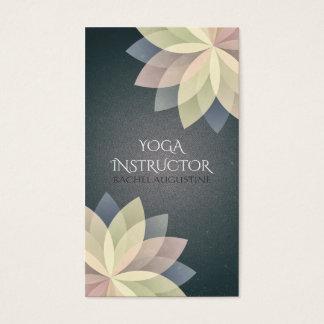 Elegant Yoga Instructor Colorful Lotus Om Symbol Business Card