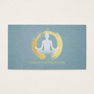 Elegant Yoga Meditation Pose Gold Foil ZEN Symbol Business Card