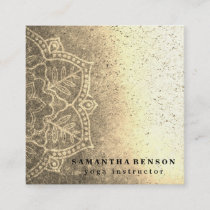 Elegant Yoga Square Business Card