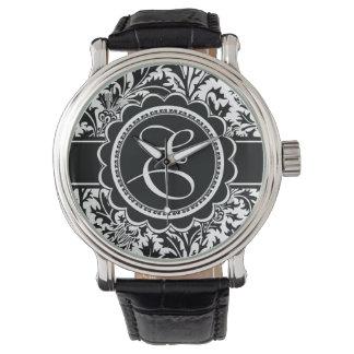 Elegant Your Monogram William Morris Floral Watches