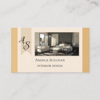 Elegant Your Photo Interior Design Business Card
