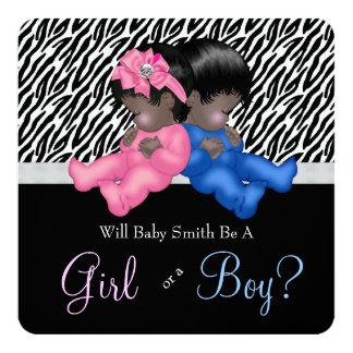 Elegant Zebra Baby Gender Reveal Shower Card