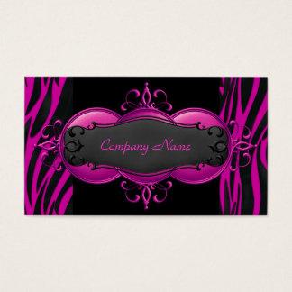 Elegant Zebra Hot Pink Black Boutique Card