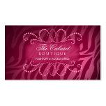 Elegant Zebra Print and Jewel Swirl Business Cards