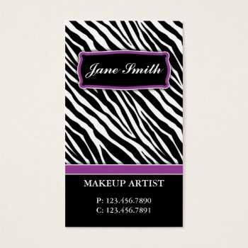 Browse products at zazzle with the theme cosmetics business cards elegant zebra print fashion hair stylist salon spa business card reheart Image collections