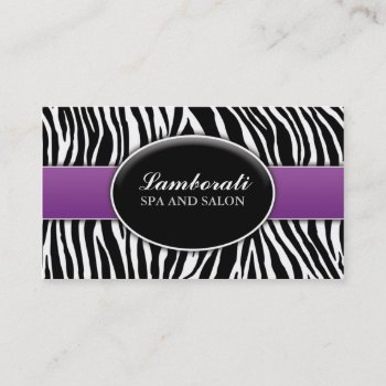 Browse products by lamborati at zazzle 30 elegant zebra print fashion salon hair stylist spa business card reheart Image collections