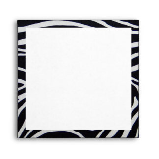 Elegant Zebra Stripe Wedding Envelope