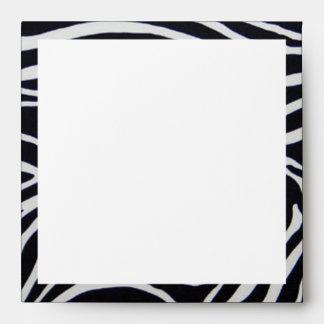 Elegant Zebra Stripe Wedding Envelope