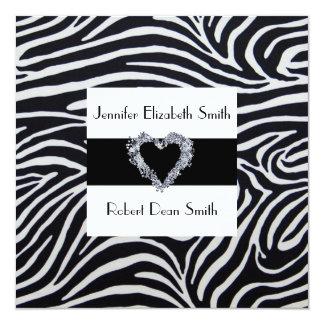 Elegant Zebra Stripe Wedding Custom Invitations
