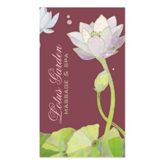 Elegant Zen Lotus Massage | Spa Appointment Cards Business Card