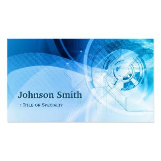 Elegante azul claro - moderno y de alta tecnología tarjetas de visita