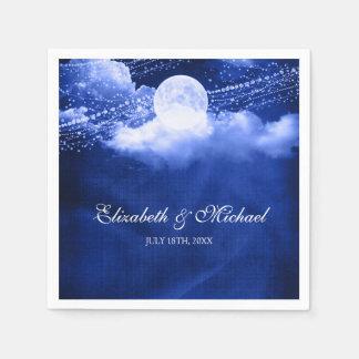 Elegante bajo boda del claro de luna servilletas de papel