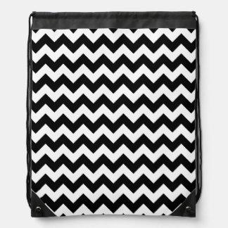 elegante blanco negro del galón mochila