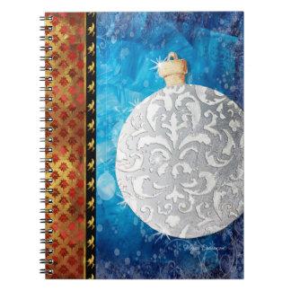 Elegante Christmas Ornament Notebook