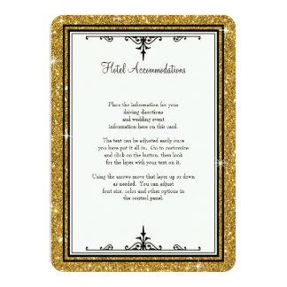 """Elegante clásico rayado del brillo del ornamento invitación 4.5"""" x 6.25"""""""