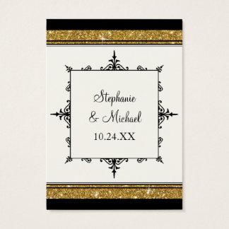Elegante clásico rayado del brillo del ornamento tarjeta de negocios