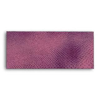Elegante con clase elegante de la piel púrpura de sobres