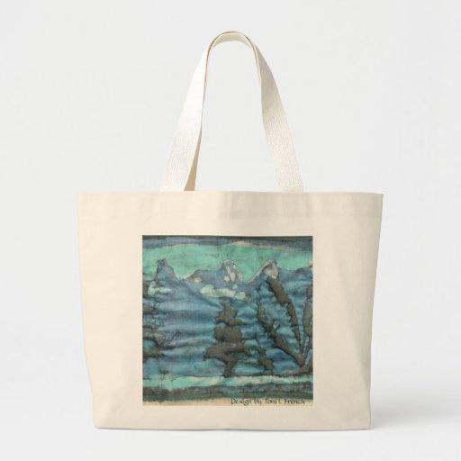 ~ elegante de la bolsa de asas del batik azul y ve