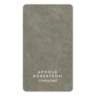 Elegante de piedra gris de la esquina redondeada tarjetas de visita