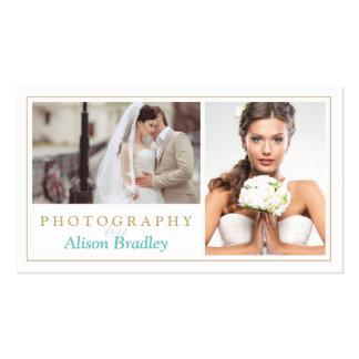 Elegante elegante del boda del estudio moderno de tarjetas de visita