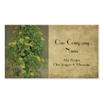 Elegante, floral, beige de dos tonos, tarjeta de v tarjetas de visita