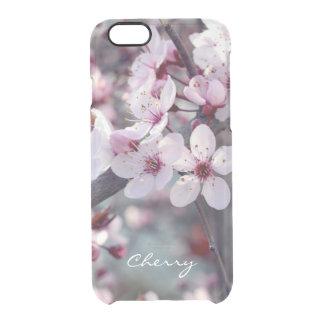 Elegante floral de la naturaleza de Sakura de la Funda Clear Para iPhone 6/6S