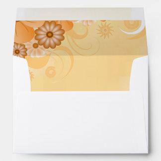 Elegante floral de marfil del hibisco del oro y sobre