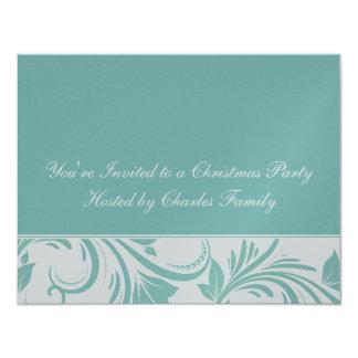 Elegante Floral Metalic Invitation