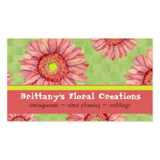 Elegante floral moderno de la margarita del tarjetas de visita