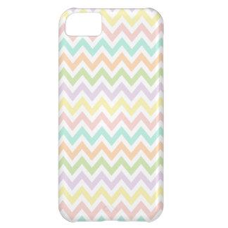 Elegante geometría de chevrón en multicolor funda para iPhone 5C