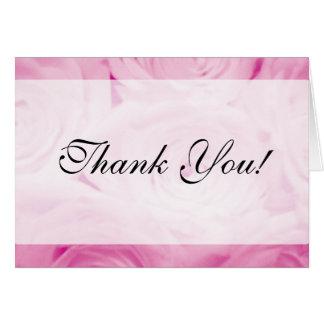 Elegante gracias cardar por rosas rosados de los b tarjetas