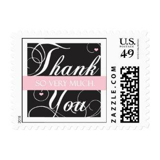 Elegante gracias - mucho sello postal