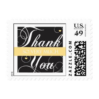 Elegante gracias - mucho sellos