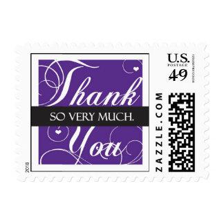 Elegante gracias - mucho sellos postales