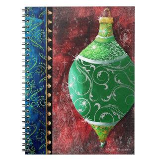 Elegante Green Ornament Notebook