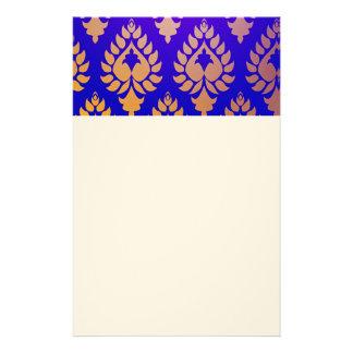 Elegante, hermoso, oro, añil, damasco, oriental,