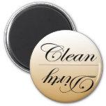 Elegante limpie/los imanes sucios del lavaplatos imán para frigorífico