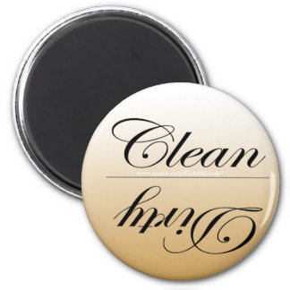 Elegante limpie los imanes sucios del lavaplatos