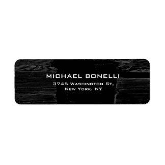 Elegante llano de madera gris profesional del etiqueta de remitente