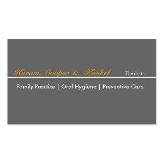 Elegante llano neutral del diseño del dentista tarjetas de visita
