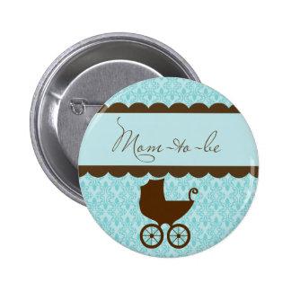 Elegante Mamá-a-Son el carro de bebé y el damasco Pins