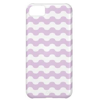 elegante mar de franjas onduladas en lila funda para iPhone 5C