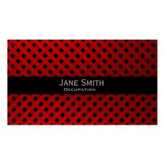 Elegante moderno comprobada rojo del modelo del tarjetas de visita